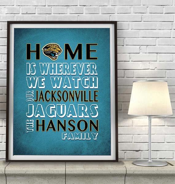 Jacksonville Jaguars Football Inspired Home Is By InkBlotzArt