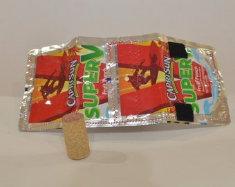 Recycled 'Capri Sun Super V' Wallet, with 'Heinz' pockets