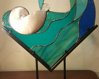 Wave Rider II - One of a Kind Stained Glass