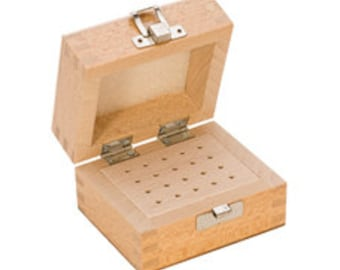 Wood Storage Box, 20 Holes, 3 by 5 Inches | PKG-120.00