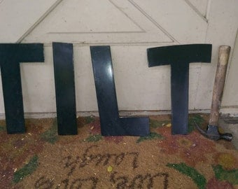 Vintage Double Enameled Sign Letters