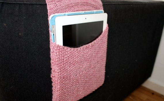 Knitting Pattern Remote Control Holder : Knitting Pattern Instant Download PDF, Remote Control Caddy, Sofa Remote Hold...