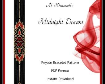 Peyote Bracelet Pattern  MIDNIGHT DREAM