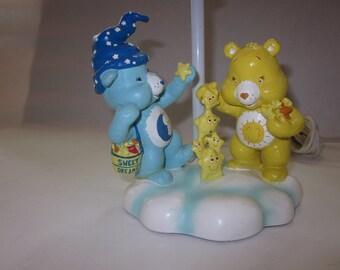 Vintage Care Bears Sweet Dreams Lamp