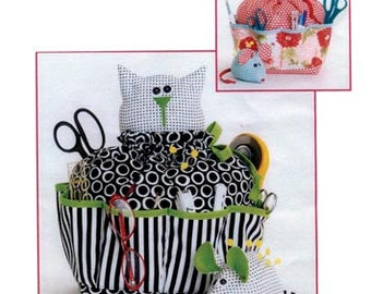 "Sewing PATTERN ""Sewing Catty & Pincushion Mouse"""