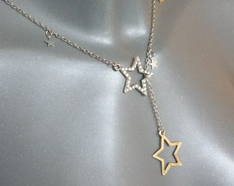Star necklace with Crystal & Gold Star CK123