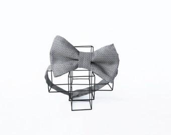 Gray bow tie