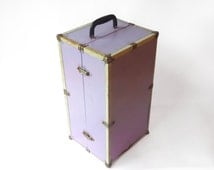 Vintage Purple Doll Trunk