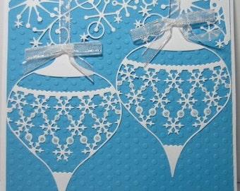 Handmade Die Cut Ornament Christmas Card