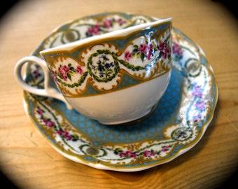 Sevres Porcelain Andrea by Sadek  Tea Cup Made in Japan  Sku: T159