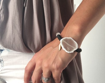Black and white Natural Stone Bracelet