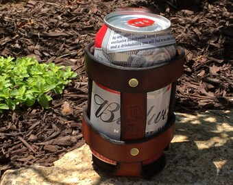 Leather Beer Can Carrier