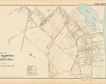 East Hampton - Divinity Hill Map 1916