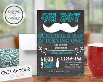 Little Man Birthday Invitations, Mustache Birthday Invitations, Mustache 1st Birthday, Mustache Bash, Mustache Invite, Chalkboard, Printable
