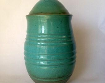 Turquoise Handmade lidded ceramic Jar9