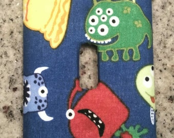 Little Monsters light switch face plate
