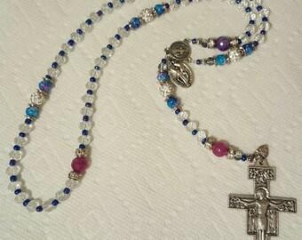 Catholic Franciscan San Damiano Crucufix Rosary