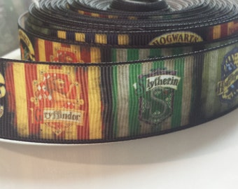 Harry Potter Hogwarts 1 inch Ribbon by the yard