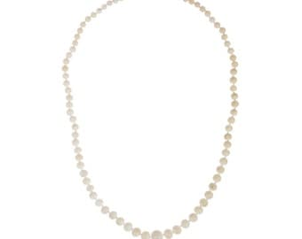 Angelskin Coral Graduated Bead Necklace