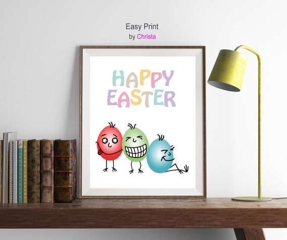 easter printable happy easter wishes eggs print by