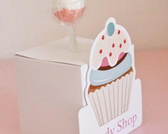 Candy Shop Lollipops Boxes  Favour boxes  Candy Shop Party