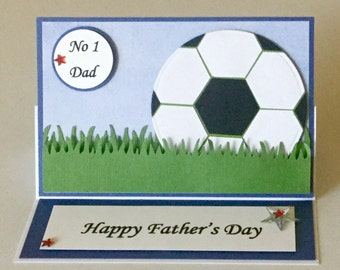 Handmade soccer Father's  Day/ Dads birthday card