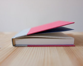 Small Pink and Grey Hardcover Notebook | Journal