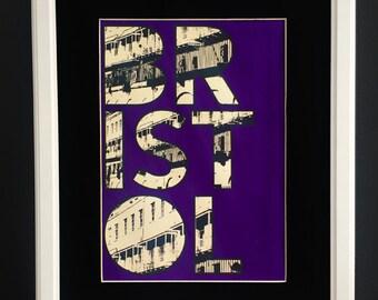Bristol Screen Print - Royal York Crescent in Purple