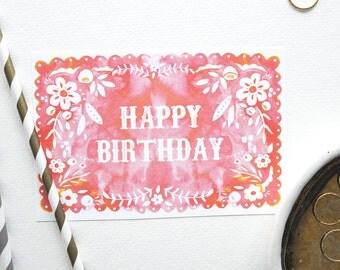 Fiesta Flag Birthday Card 1pc