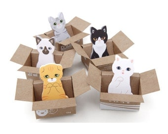 5pcs Kitty House-it Sticky Note/Decoration Sticker/Bookmark/ Post It/ US SELLER!! Fast Free Shipping