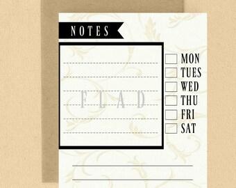 Digital or Printed Modern Notepad or Loose Writing Sheets/ 8x10 Notepads/ 8x10 Writing Sheets/ Notepads/ FS#L03