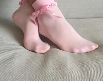 Women's Socks, Ankle Socks, Lace Ankle Socks