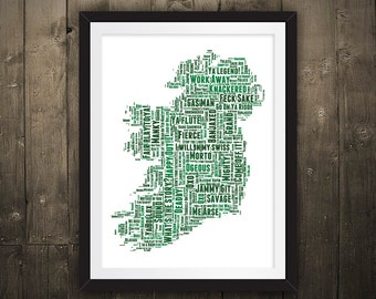 Ireland Map – Slang