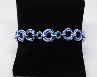 Mobius Braclet of Multiple sizes, customize, personalize, Chain mail, Customizable bracelet