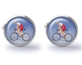 Cyclist Cufflinks (Pair) Lifetime Guarantee