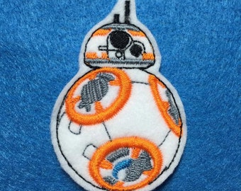 BB8 finger puppet embroidery design