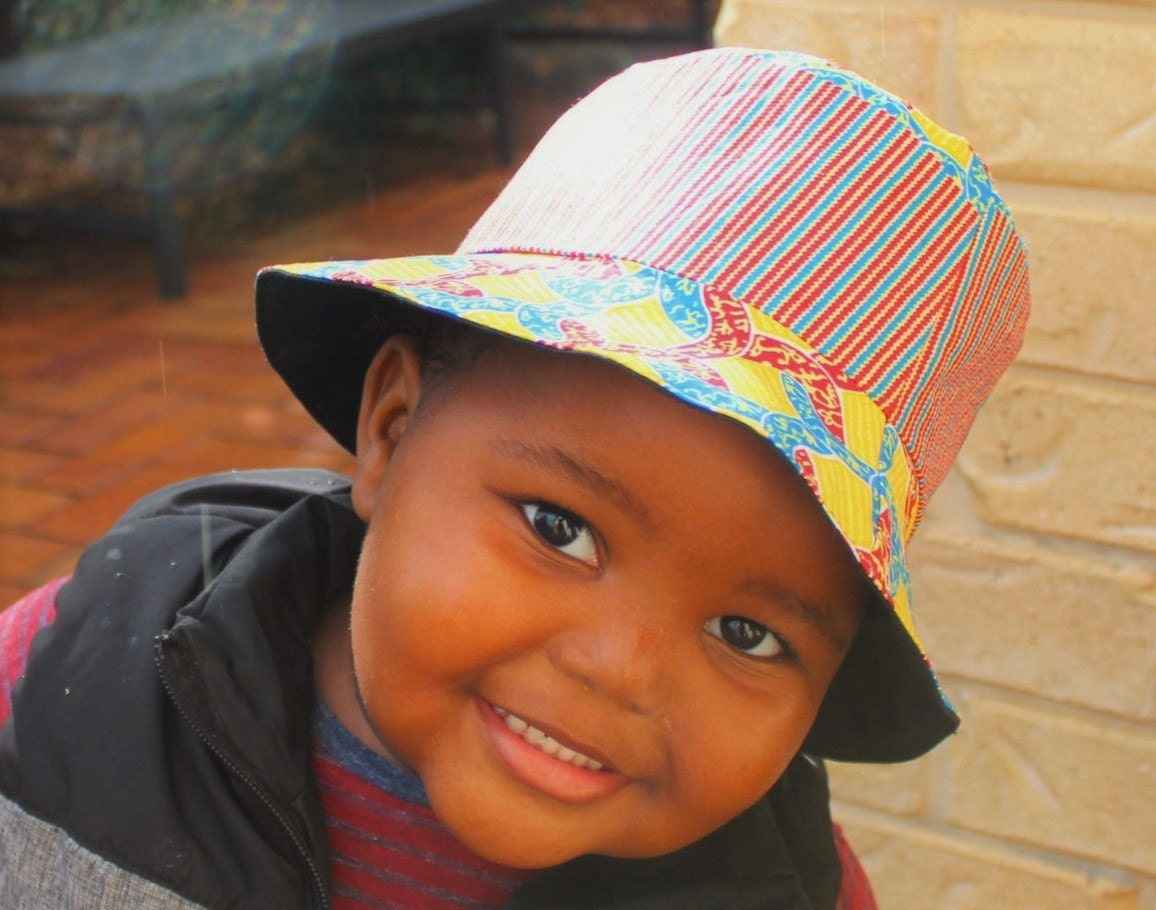 Kids bucket hat african print hat reversible hat by ...
