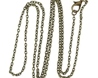 3x Blue Moon Beads Bronze Oval Chain, Medium 80in AJM-ZG-003-00071