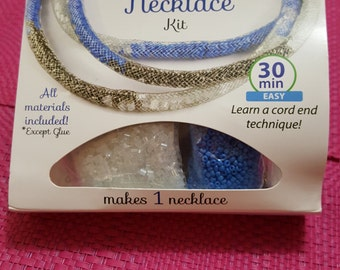 Silver Metal Mesh Tube Filled Necklace Kit AJM63518011