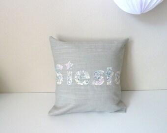 Small cushion NAP lin Liberty Bliss sweet blue and grey