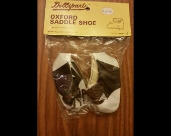 Vintage oxford saddle doll shoes