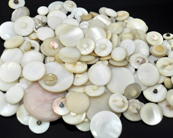 12oz Vintage Mother of Pearl Shank Buttons /464