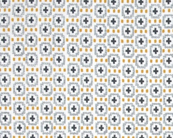 Michael Miller Wove It or Weave It Weave The People Citron - 100% cotton - PRE-WASHED FABRIC - 9.50 Yard