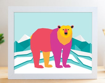 "Polar Bear // 8x10"" Archival Print"