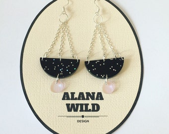At Midnight Statement Earrings
