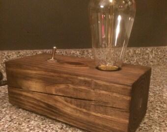 Vintage Block Lamp