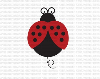 Lady Bug SVG File svg Digital File DXF EPS Silhouette Circuit Cut File Iron On Decal htv Heat Transfer Vinyl