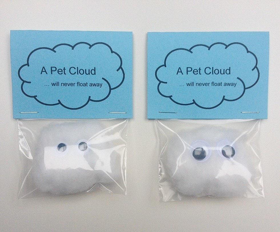 Quirky Wedding Gifts Uk: Pet Cloud / Wedding Favors / Wedding Favours / Quirky Gifts