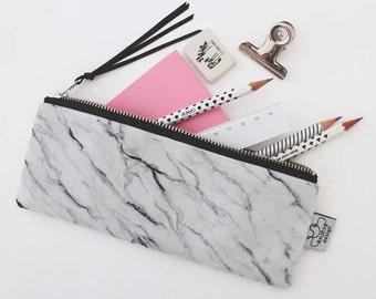 Marble pencil case/Marble pencil pouch/Marble zipper pouch/Original ANJESY designs.