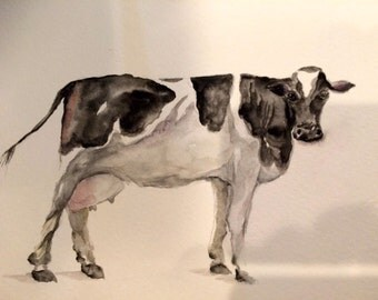 water color cow